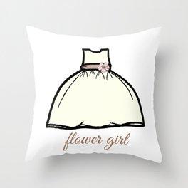 Flower Girl Sweetness Throw Pillow