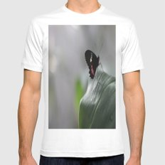 Butterfly Bokeh  MEDIUM White Mens Fitted Tee