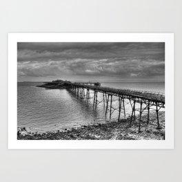 Birnbeck Pier, Weston-super-Mare Art Print