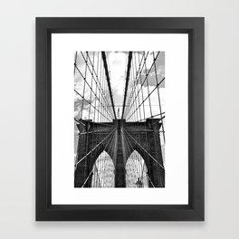 Brooklyn Bridge Old School Framed Art Print