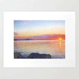 Canadian Sunrise Art Print