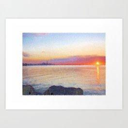 Canadian Sunrise Art Print