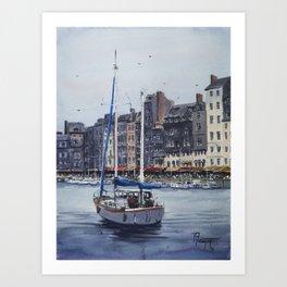 Le Vieux Bassin in Honfleur Art Print