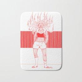 Candle Hair Red Bath Mat