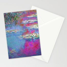 Water Lillies - Claude Monet (plastic pink) Stationery Cards