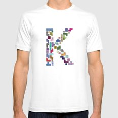 letter k - gaming blocks Mens Fitted Tee White MEDIUM