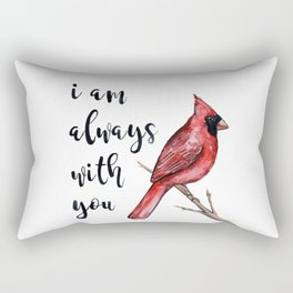 I Am Always With You, Cardinal Rectangular Pillow
