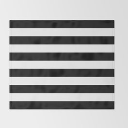 Stripe Black & White Horizontal Throw Blanket