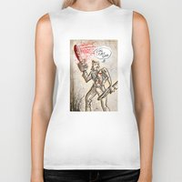 evil dead Biker Tanks featuring Ash from The Evil Dead by Joe Badon