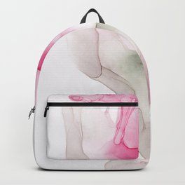 Gray and Red ink Abstract Backpack