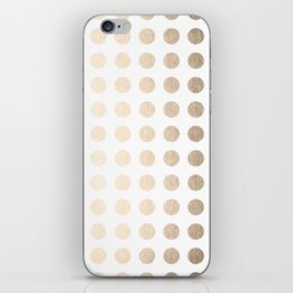 Simply Polka Dots in White Gold Sands iPhone Skin