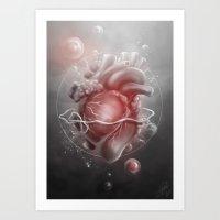 valentine Art Prints featuring Valentine by Nicolas Jamonneau