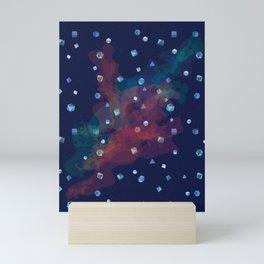 Polyhedral Dice- Nebula Mini Art Print