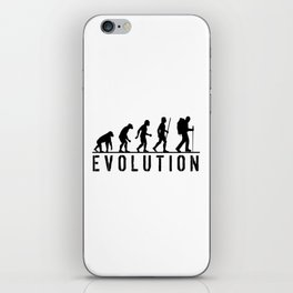 The Evolution Of Man And Hiking iPhone Skin