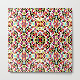 Colorful Abstract Mosaic Design Metal Print