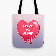 pastel melty heart leave me alone Tote Bag