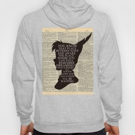 Peter Pan Over Vintage Dictionary Page - That Place Hoody