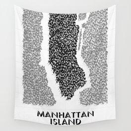 Manhattan Island Wall Tapestry