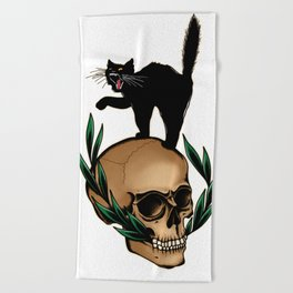 Scaredy Cat Beach Towel