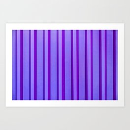 Stripes - Violet Art Print