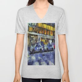 New York police Department Van Gogh Unisex V-Neck