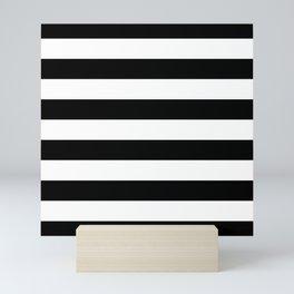 Stripe Black & White Horizontal Mini Art Print