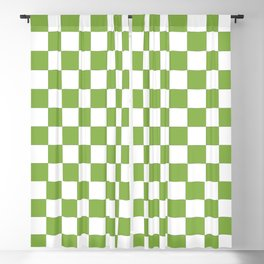 Color of the year 2017  Greenery | Checkerboard Blackout Curtain