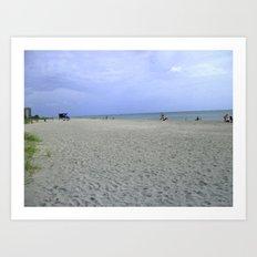Vacancy on the Beach Art Print