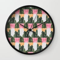 cactus Wall Clocks featuring cactus by Grace