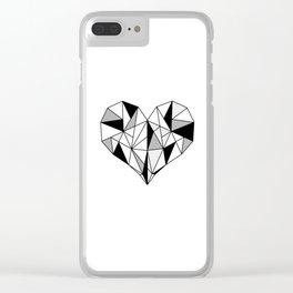 Modern Heart Clear iPhone Case