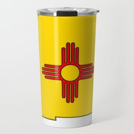 New Mexico Map with State Flag Travel Mug