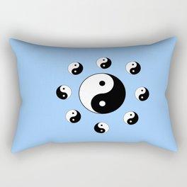 Yin and Yang 17- Tao,Zen,Taoism,Dao,Harmony,religion,buddhism,buddhist,taijitu,taiji,taoist,china Rectangular Pillow