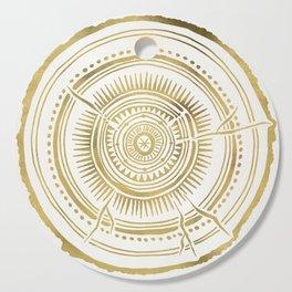Quaking Aspen – Gold Tree Rings Cutting Board