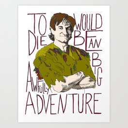 Robin Williams Hook Peter Pan Quote Art Print
