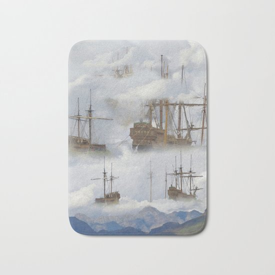 Cloudships Bath Mat