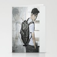 exo Stationery Cards featuring Kai EXO by Axel Senpai