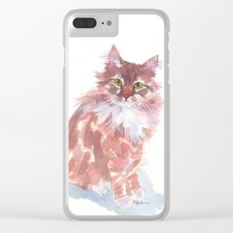 Ginger Peach Clear iPhone Case