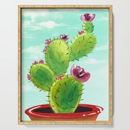 Potted Cactus Serving Tray