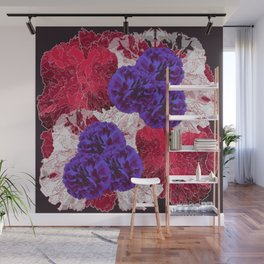 Outlined Flowers Wall Mural