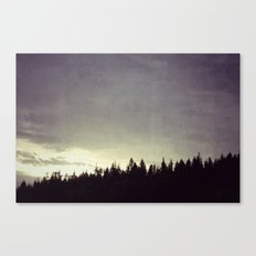 Sunset Over Trees Canvas Print