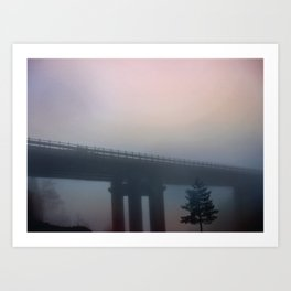 Misterious bridge Art Print
