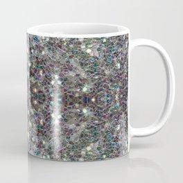 Sparkly colourful silver mosaic mandala Coffee Mug