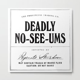 Deadly No-See-Ums Metal Print