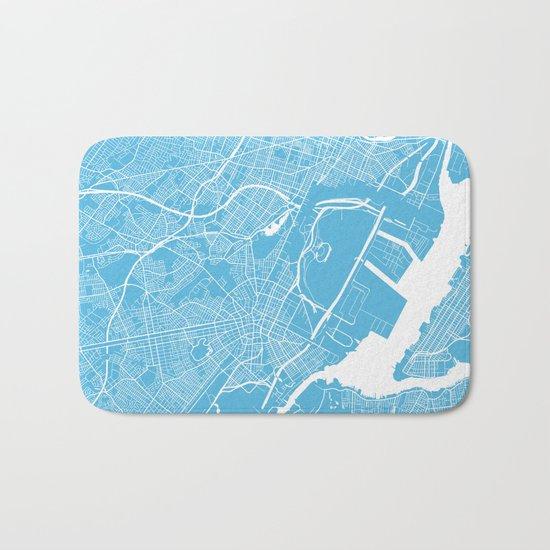 Newark map blue Bath Mat