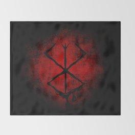Black Marked Berserk Throw Blanket