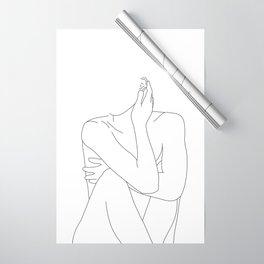 Nude life drawing figure - Celina Wrapping Paper