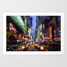 'Times Square NYC' Art Print