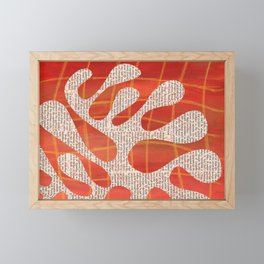 Orange amoeba Framed Mini Art Print
