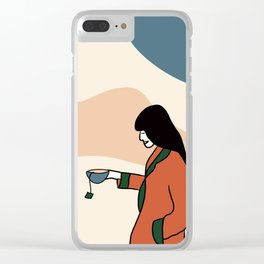 Tea lover Clear iPhone Case