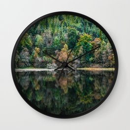 Forest Reflection Wall Clock